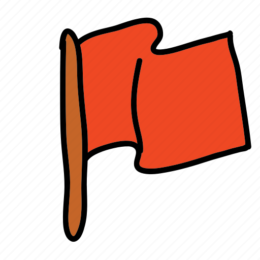 flag, red flag icon