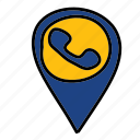 call, calling, contact, phone, tag icon