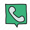 call, contact, message, phone icon