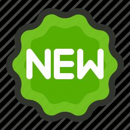 badge, label, new icon