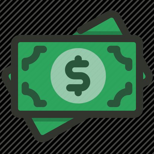 bill, cash, dollar, payment icon
