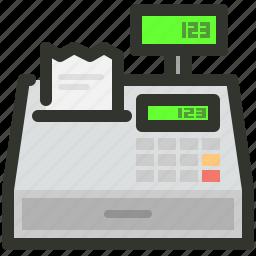 billing, cashier, machine icon