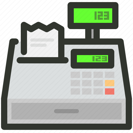 billing, cashier, machine icon
