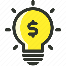 bulb, business, investment, marketing icon