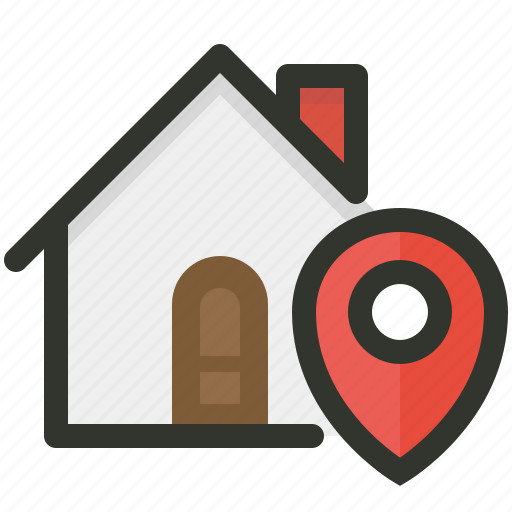 address, delivery, location icon