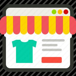 ecommerce, shopping, store, website icon