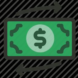 finance, money, transaction, transfer icon