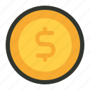 coins, finance, money icon