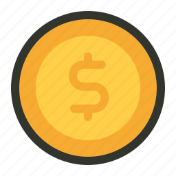 coins, finance, money icon