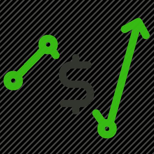business, growth, money, profit icon
