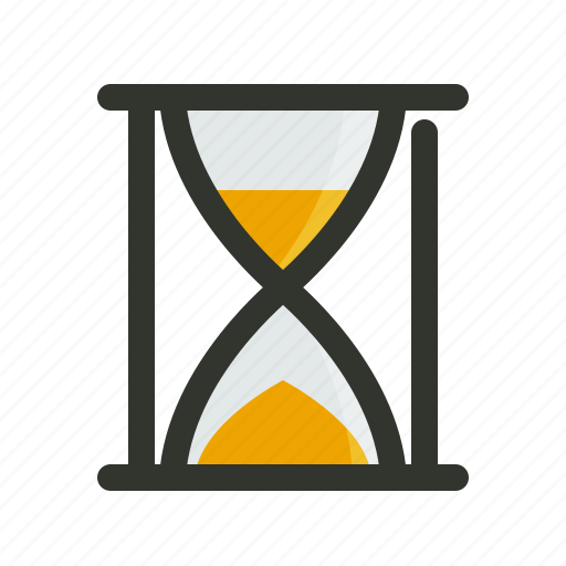 hour glass, sand clock, timer icon