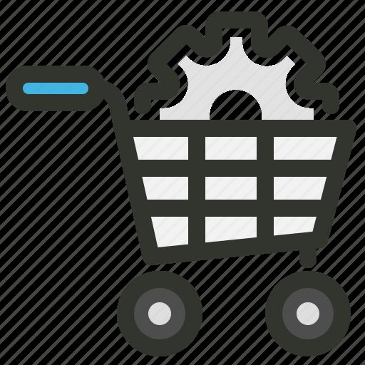 cart, ecommerce, settings, shopping icon