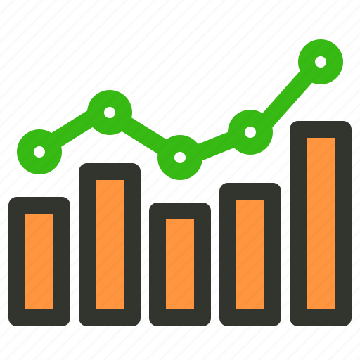 graph, growth, sales, stats icon