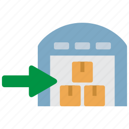 logistics, stock, warehouse icon