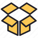 box, cloud, dropbox, media, social icon