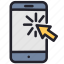 device, mobile, phone, smartphone, web, website icon
