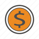bank, bill, cash, coin, coins, money icon