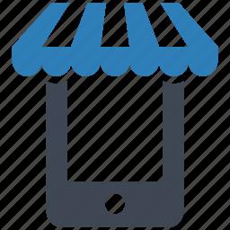mobile, online, shop icon