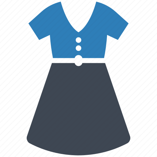 clothing, dress, woman icon