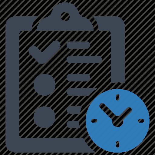 document, list, waiting icon