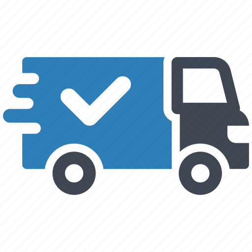 delivered, delivery, shipped icon