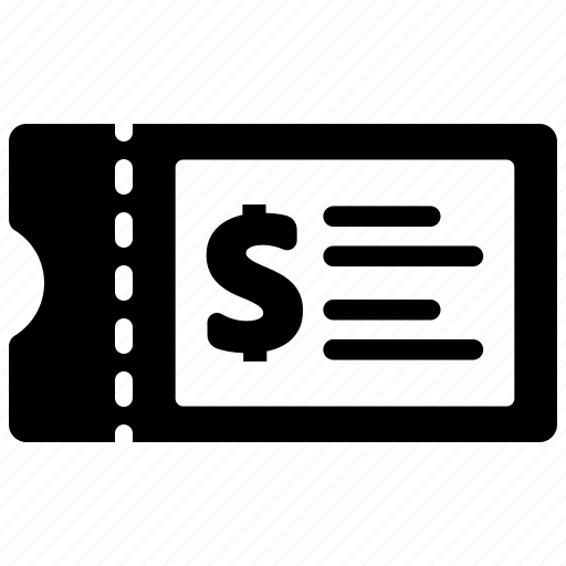 entry, receipt, ticket icon
