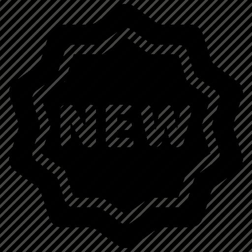 badge, new, sticker icon