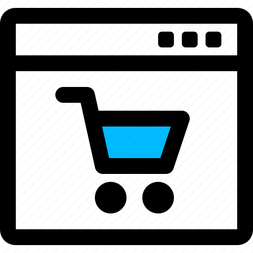 browser, cart, e commerce, online, shopping, trolley icon