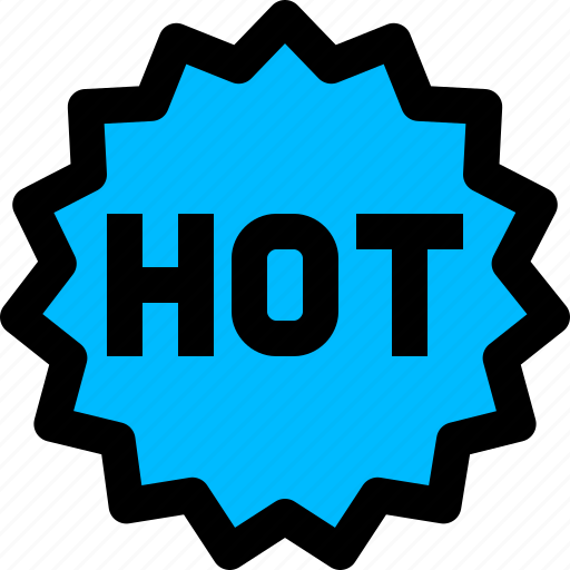 hot, label, product, sticker icon