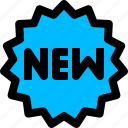 label, new, product, sticker icon