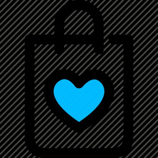bag, favorite, heart, shopping icon