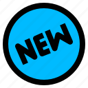 new, shopping, sticker icon