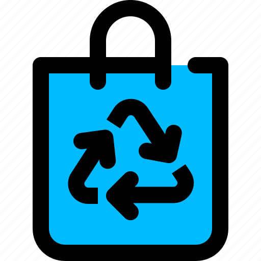 bag, recycle, recylding, shopping icon