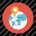 earth, location, map, pin, world