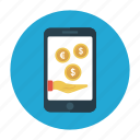 mobile, online, pay, phone, shopping icon