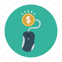 dollar, money, online, payperclick, shopping icon