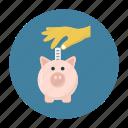 bank, coins, money, piggy, saving