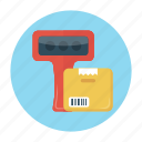 barcode, box, delivery, parcel, scanner icon
