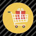buying, cart, gift, shopping, trolley