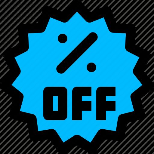 off, offer, percentage, sticker icon