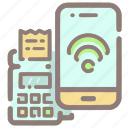 cashless, contactless, machine, mobile, payment, phone, smartphone icon