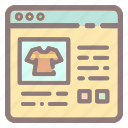 clothes, ecommerce, online, shirt, shop, store, web shopping icon