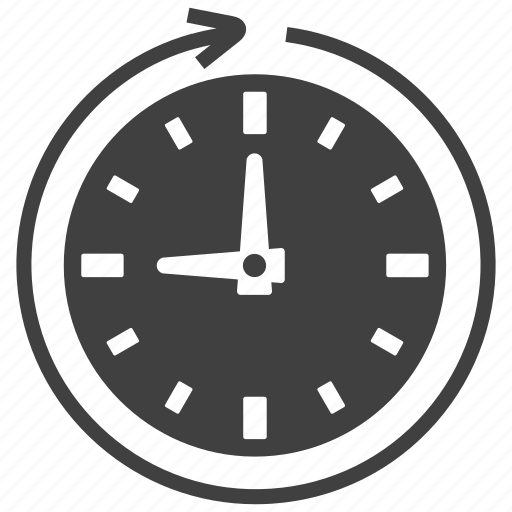 process, time, watch icon