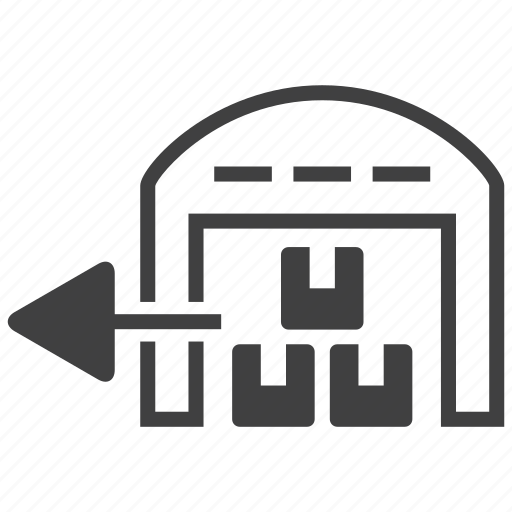 shipping, stock, store icon
