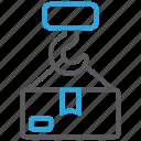 cargo, crane, load icon