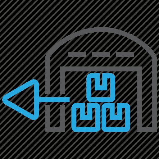 shipment, stock, warehouse icon