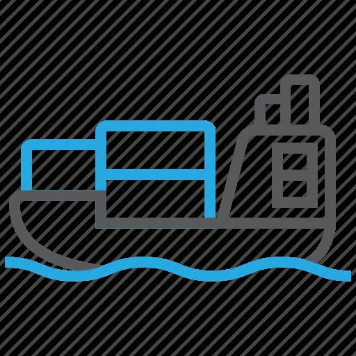 sailing, shipment, vessel icon