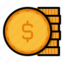 cash, coin, dollar, e commerce, money, payment, shopping icon