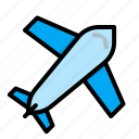 airplane, e commerce, international, plane, shipping, shopping icon