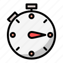 delivery, e commerce, shopping, stopwatch, time, timer icon